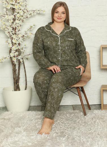 Akbeniz Pijama Takım Haki